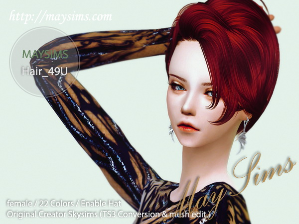 select a Website   : May Hairstyle 49U for Sims 4