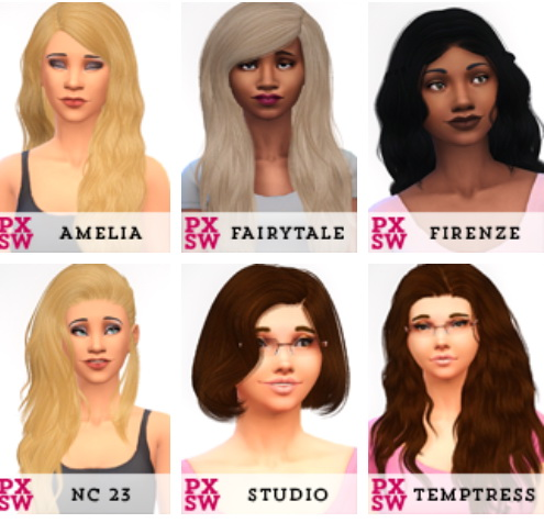 Swirl Goodies: 200 hairstyle retextured for Sims 4