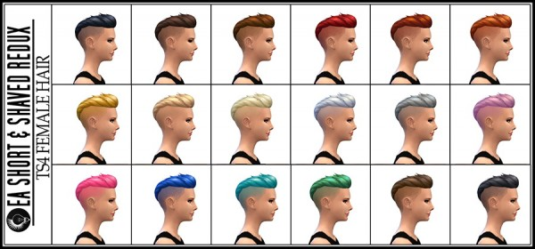 Jorgha haq: Short & Shaved hairstyle with properly shaved sides for Sims 4