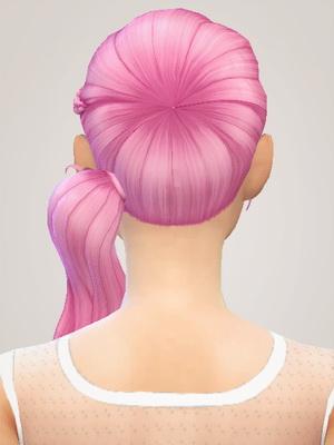 Liahxsimblr: Vampire Aninyosaloh Alexandra hairstyle retextured for Sims 4