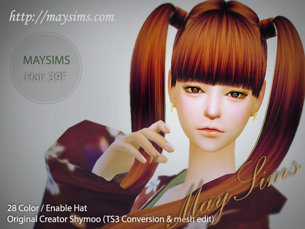 MAY Sims: May Hairstyle39F for Sims 4