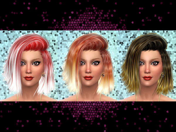 The Sims Resource: 50 Recolors of Stealthic High Life Hairstyle for Sims 4