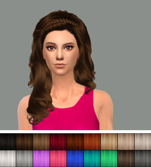 Delirium Sims: Cazy's Roulette hairstyle retextured for Sims 4