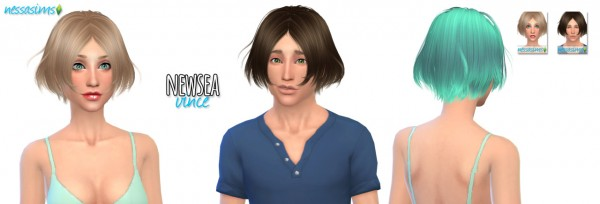 Nessa sims: Newsea`s Vince hairstyle retextured for Sims 4