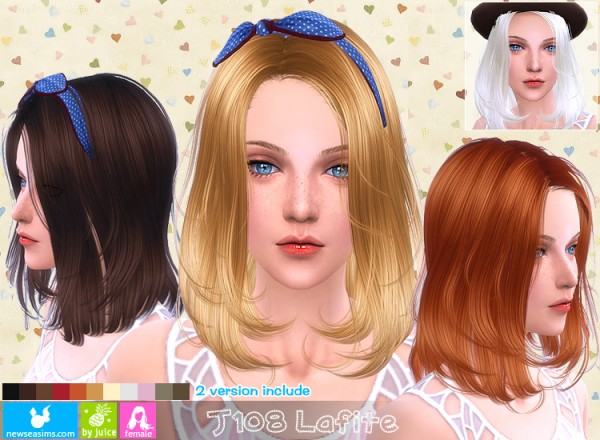 NewSea: J108 Lafite hairstyle for Sims 4