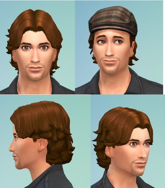 Birksches sims blog: Short curly hairstyle for Sims 4