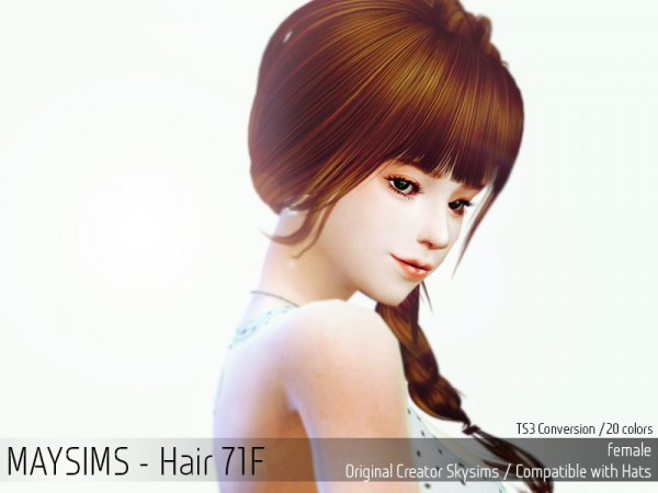 MAY Sims: May Hairstyle 71F for Sims 4
