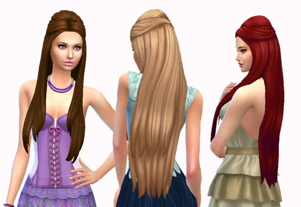 Mystufforigin: Pure hairstyle for Sims 4