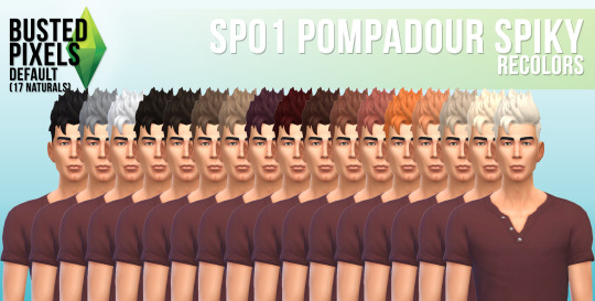 Busted Pixels: Pompadour spiky for Sims 4