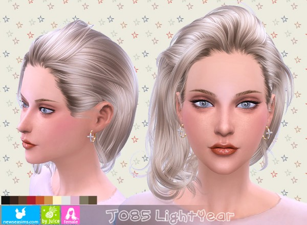 NewSea: J185 Light year hairstyle for Sims 4