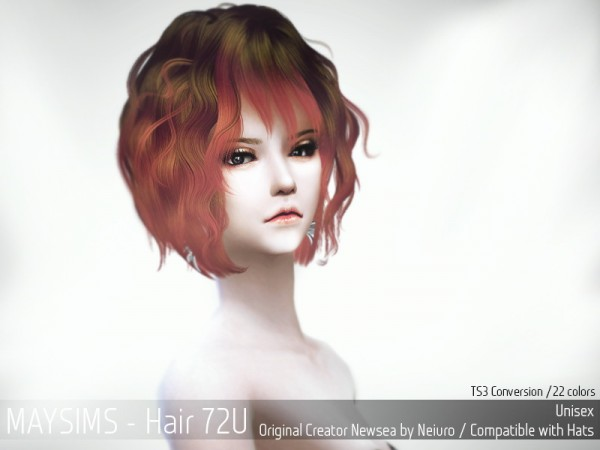 MAY Sims: May hairstyle 72U retextured for Sims 4