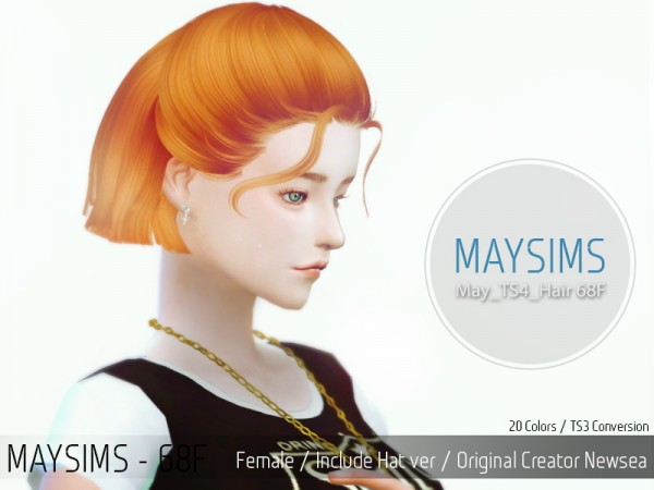 MAY Sims: May Hairstyle 68F for Sims 4
