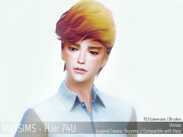 MAY Sims: May Hairstyle 74U for Sims 4