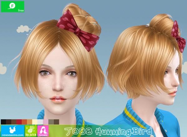 NewSea: J088 Humming Bird Haistyle for Sims 4