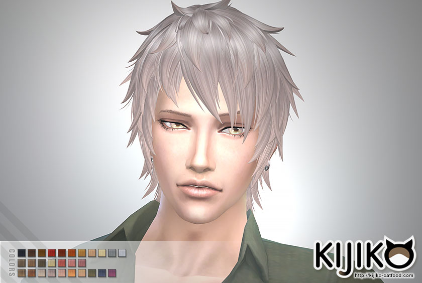 Sims 4 Hairs Kijiko Sims Shaggy Short Hairstyle For Him