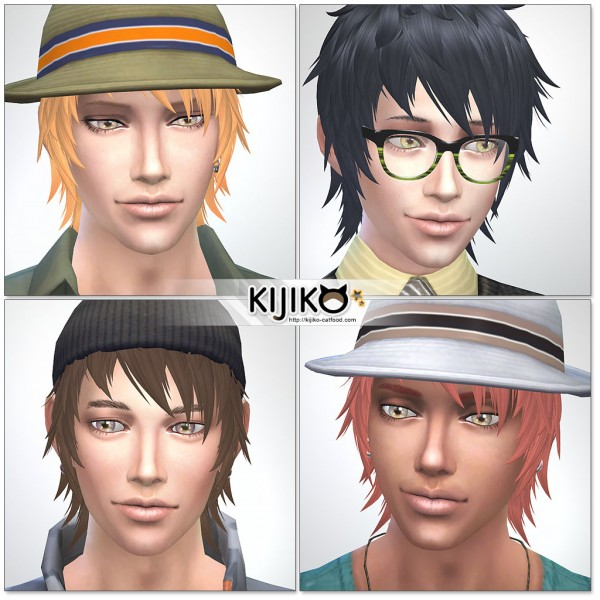 Kijiko Sims: Shaggy Short hairstyle for him for Sims 4