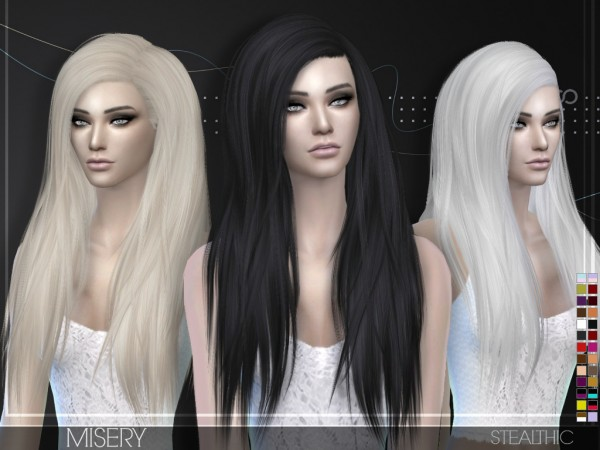Stealthic: Misery hairstyle for Sims 4