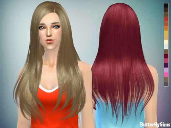 Butterflysims: Hairstyle 145 for Sims 4