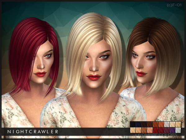 The Sims Resource: Hairstyle 01 by Nightcrawler for Sims 4