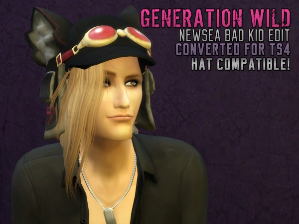 The path of never more: Generation wild Newsea`s Bad kid hairstyle converted for Sims 4