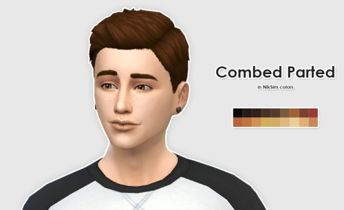 Ellesmea: LumiaLoverSims Combed Parted hairstyle recolor for Sims 4