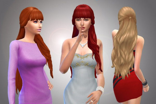 Mystufforigin: Flame hairstyle for Sims 4