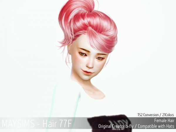 MAY Sims: May Hairstyle 77F for Sims 4