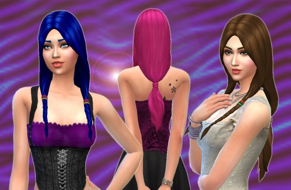Mystufforigin: Sunset Hairstyle for Sims 4