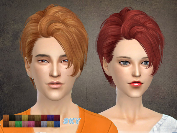 The Sims Resource: Hairstyle 121 by Skysims for Sims 4