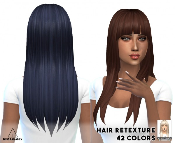 Miss Paraply: Notegain Alicia hairstyle retextured for Sims 4