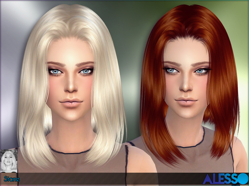 Sims 4 Hairs The Sims Resource Stone Hairstyle By Alesso