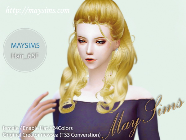 MAY Sims: May 65F hairstyle for Sims 4