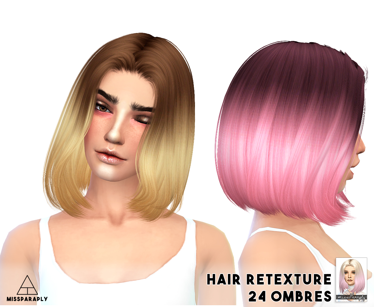 Sims 4 Hairs Miss Paraply 10 000 Followers