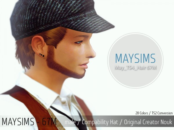 MAY Sims: May Hairstyle 67M for Sims 4