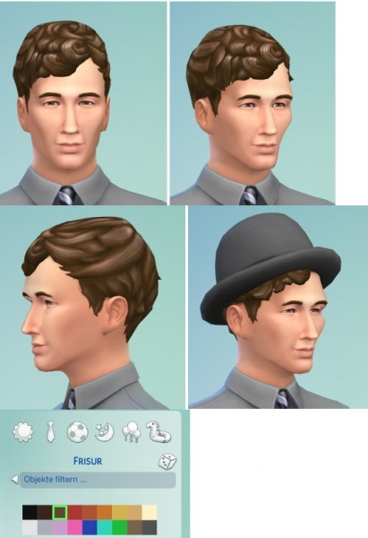 Birksches sims blog: Pixi Curl hairstyle for Sims 4