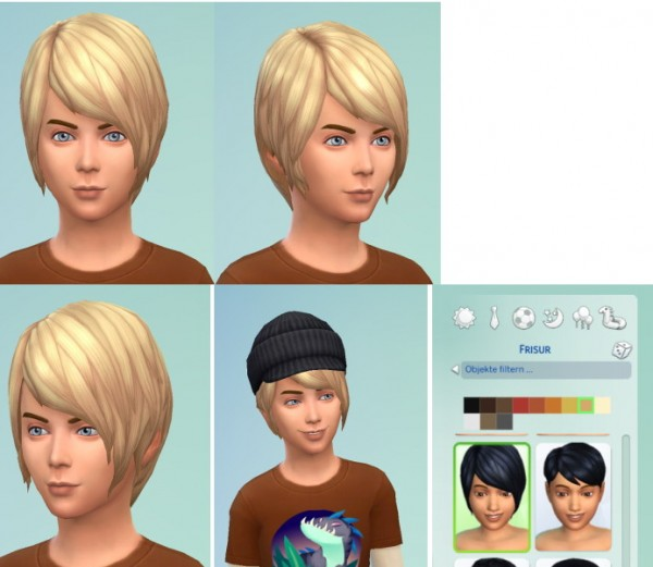 Birksches sims blog: Pixi Long hairstyle for Sims 4