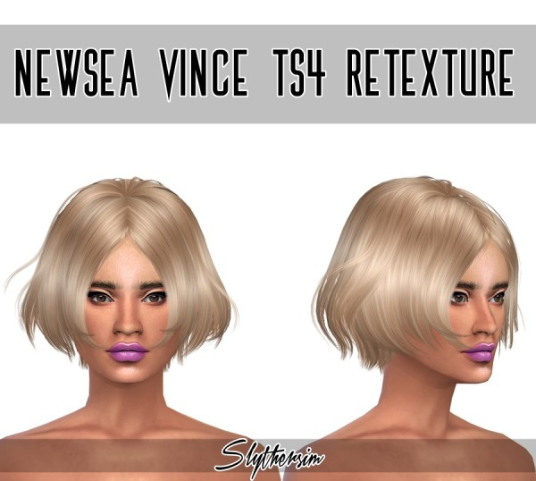 Monolith Sims: Newsea Vince hairstyle retextured for Sims 4