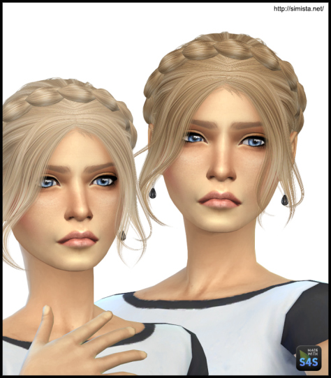 Simista: Alesso`s Slowly hairstyle retextured for Sims 4