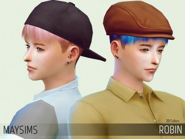 MAY Sims: May hairstyle Robin for Sims 4