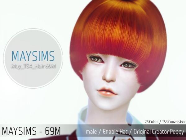 MAY Sims: May Hairstyle 69U for Sims 4