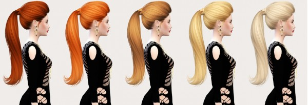 Salem2342: Skysims 266 hairstyle retextured for Sims 4