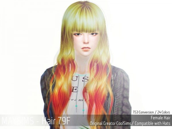 MAY Sims: May Hairstyle 79F for Sims 4