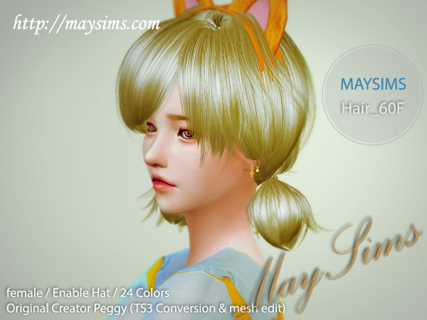 MAY Sims: May Hairstyle 60F for Sims 4