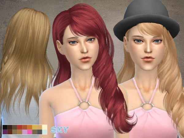 The Sims Resource: Hairstyle ili267 by Skysims for Sims 4