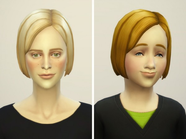 Rusty Nail: Bangs side swept hairstyle retextured for Sims 4
