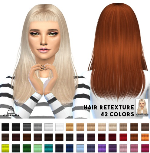 Miss Paraply: Sintiklia Still into you hairstyle retextured for Sims 4