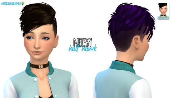 Nessa sims: Mini Hair Dump 3 for Sims 4
