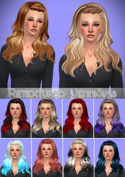 Jenni Sims: Newsea`s Morrison hairstyle retextured for Sims 4
