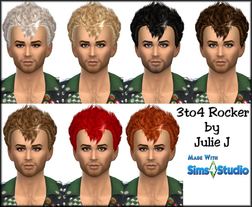 Julietoon: Rocker Hairstyle for Sims 4