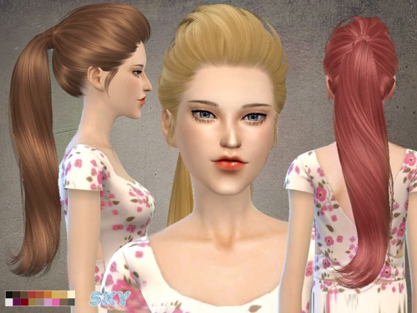 The Sims Resource: 266 hell hairstyle by Skysims for Sims 4